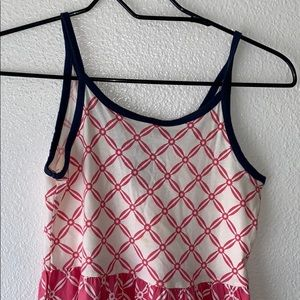 Girls Summer Dress Pink and White Size M (8).